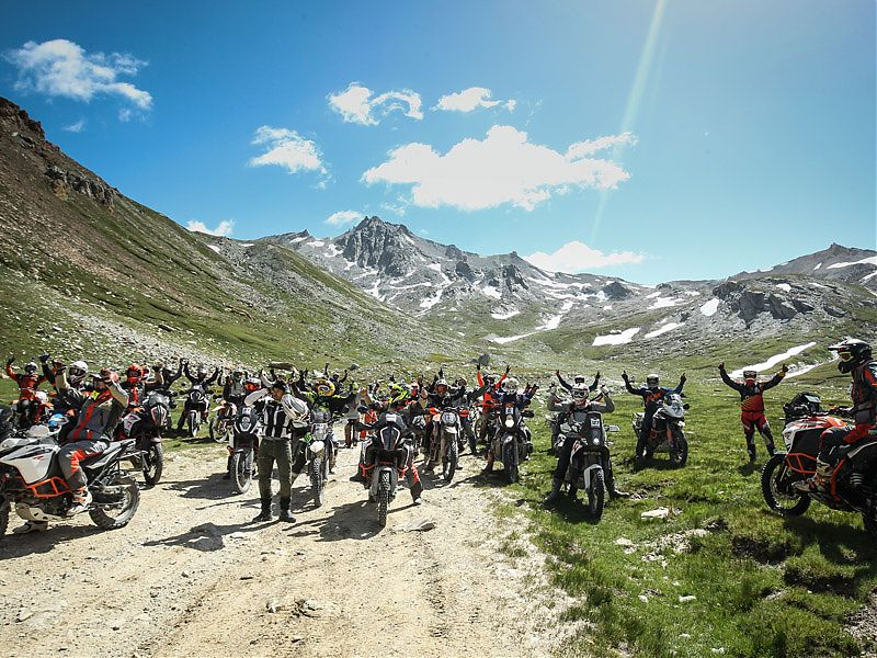 Ambiente del I KTM Adventure Rally europeo