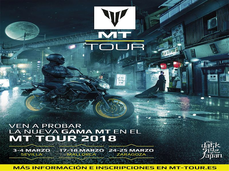 Cartel oficial Yamaha MT Tour 2018