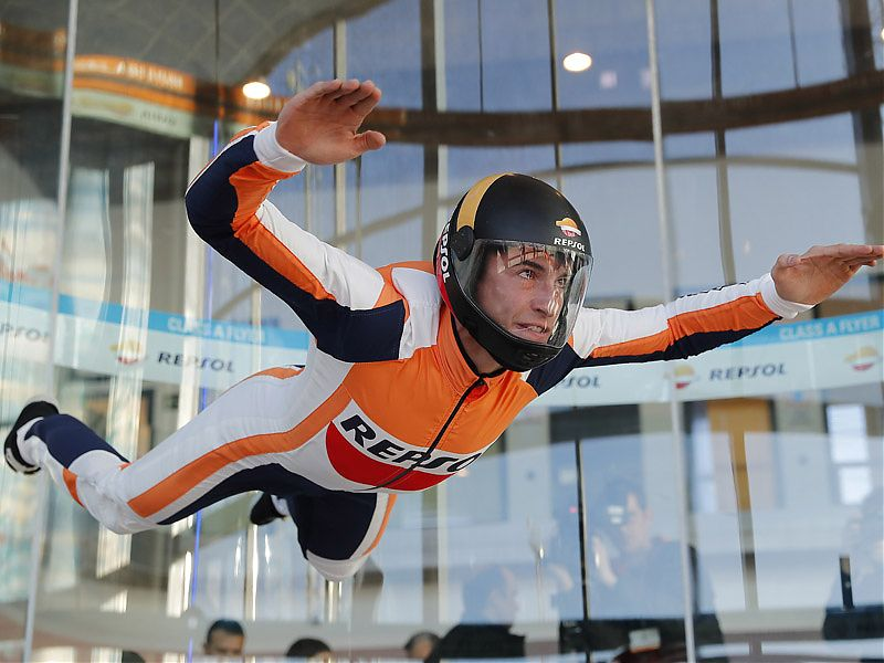 Márquez en Madrid Fly