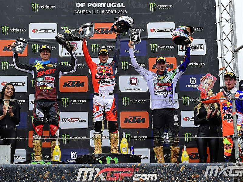Podio MX2 GP de Portugal