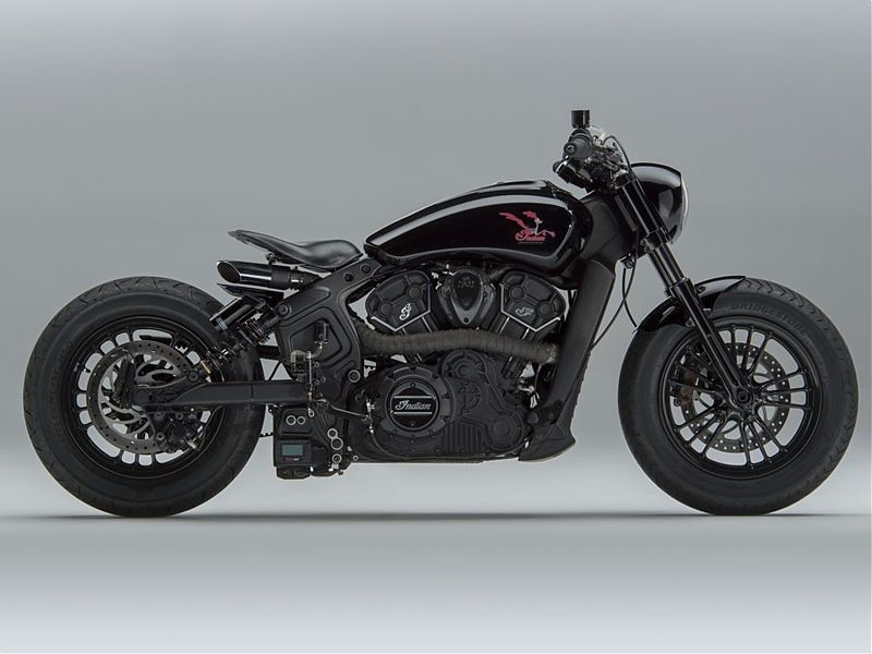 Indian Scout Sixty 'Road Runner' - lateral