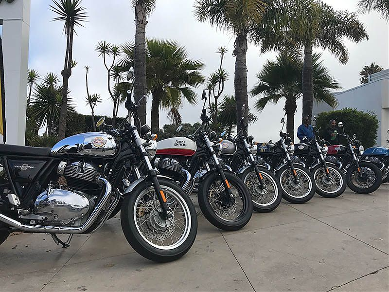Presentación internacional Royal Enfield Interceptor INT 650 y Continental GT 650 en California