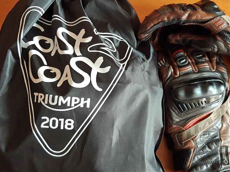 Bolsa 'welcome pack' del Triumph Coast2Coast 2018