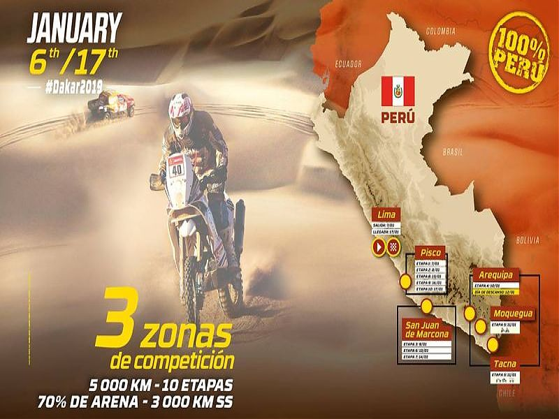 Cartel completo Dakar Rally 2019