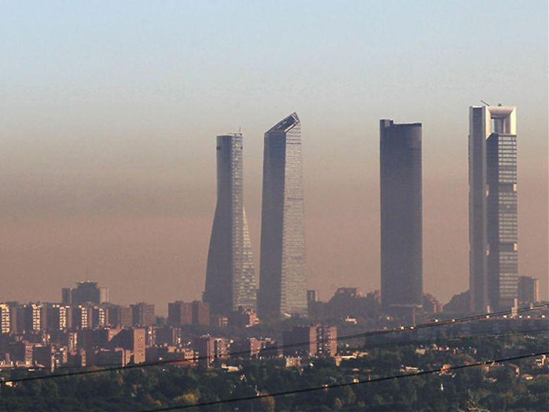 Madrid con contaminación