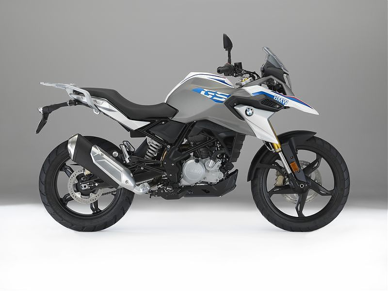 BMW G 310 GS color blanco perla metalizado