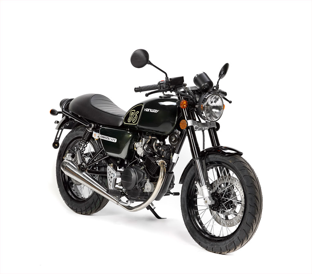 hanway raw 125 cafe y scrambler a la moda nuevas motos zonaoff. Black Bedroom Furniture Sets. Home Design Ideas
