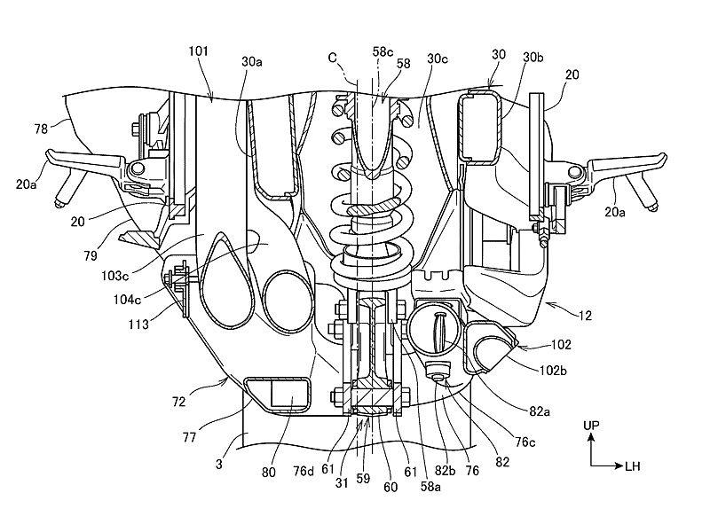 Honda V4 Sbk 2018 Detalles De La Patente De Su Sistema De Escape