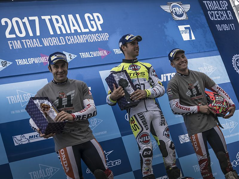 Podio TrialGP Rep. Checa 2017.