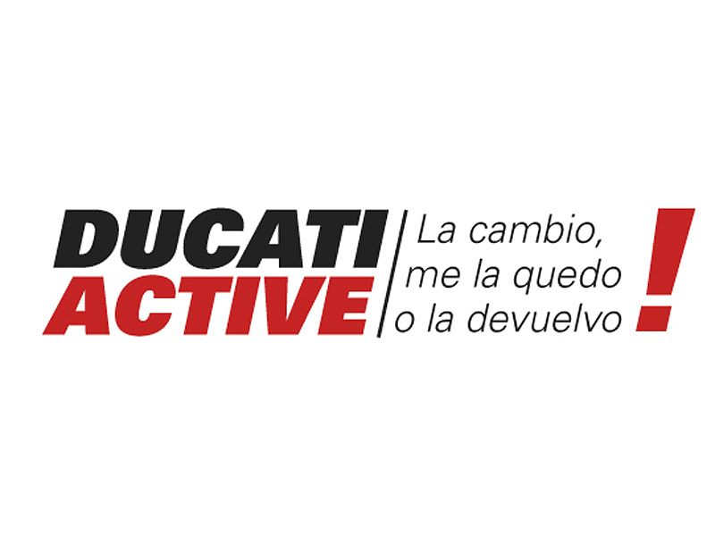 Logotipo oficial de financiación DUCATI ACTIVE!
