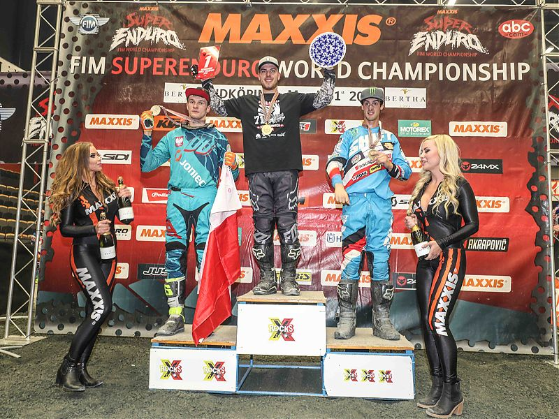 Podio del GP de Suecia de Superenduro Junior