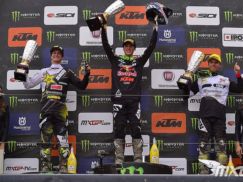 Podio MX2 GP de Trentino