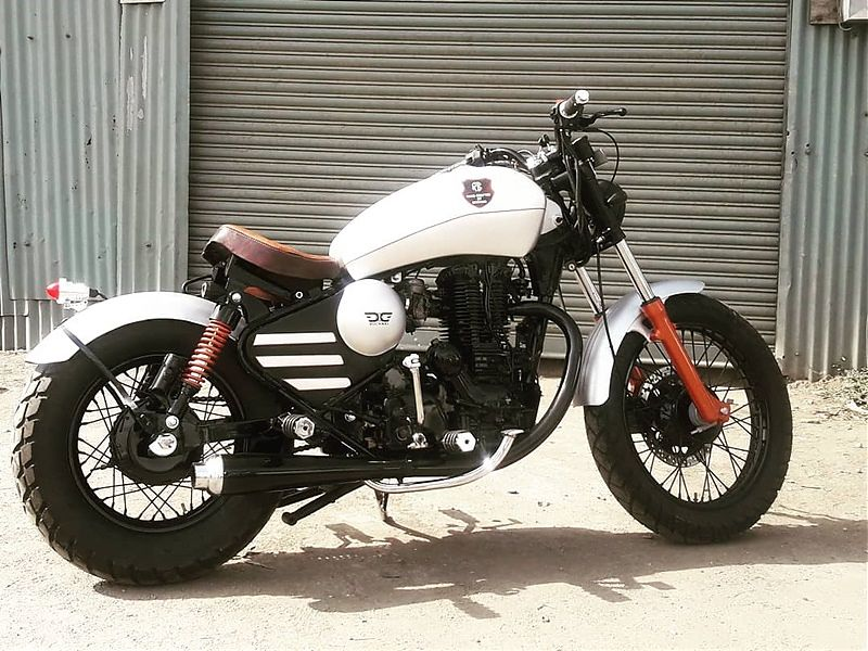 Royal Enfield Thunderbird Bobber 'Nirankush' - lateral