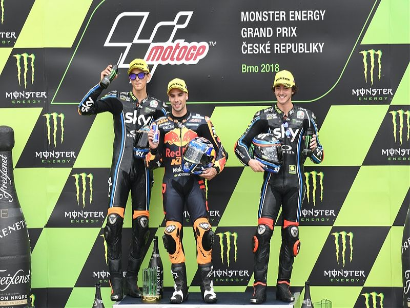 GP República Checa: podio Moto2