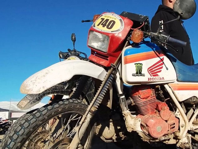 Una Honda XL250R en 'Veteranas Off Road'