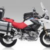 BMW R1200 GS con maletas, pantalla, bolsa y defensas Givi