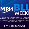 Triumph Blue Weekend 2013: descuentos del 20 al 50 %