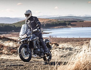 La Triumph Explorer en el Scottish Adventure Tour.