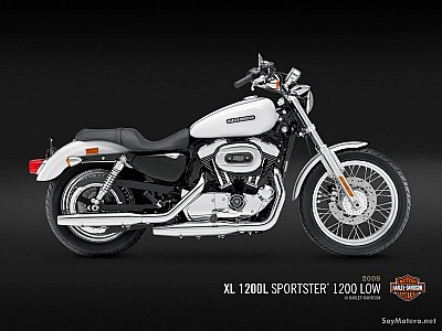 Harley Davidson 1200 Low - XL 1200L - White Gold Pearl y Pweter Pearl