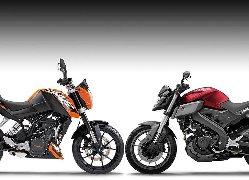 yamaha mt 125 vs ktm 125 duke cu l es mejor motos. Black Bedroom Furniture Sets. Home Design Ideas