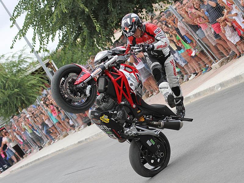 Ducati Monster Stunt