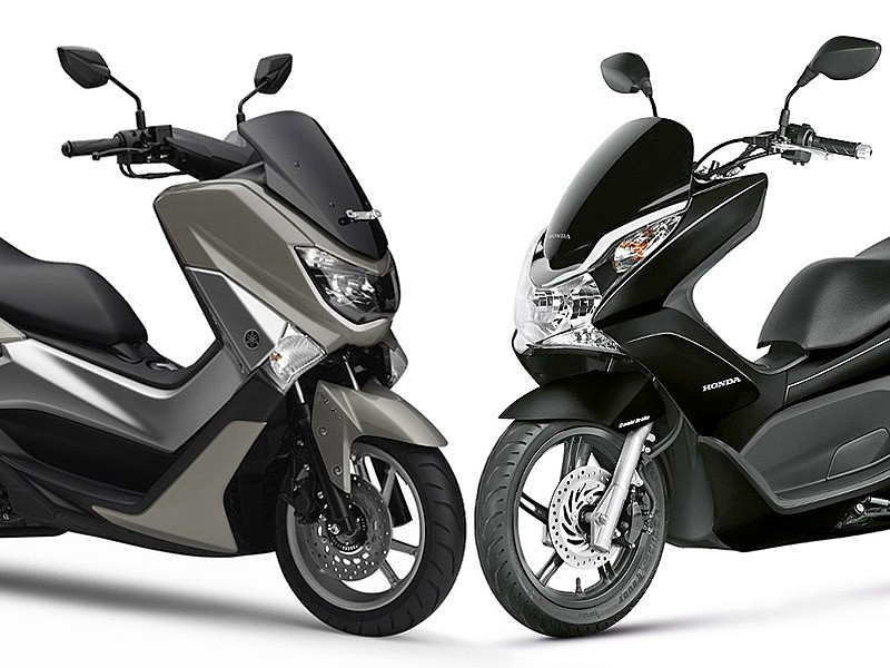 yamaha nmax vs honda pcx 125 cu l es mejor motos yamaha honda. Black Bedroom Furniture Sets. Home Design Ideas