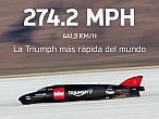 Guy Martin y Triumph vuelan a más de 400 km/h enBonneville