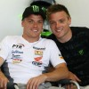 Sam Lowes (izquierda) en su etapa en Supersport junto a su hermano Alex.