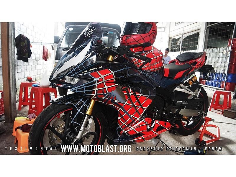 Honda cbr250rr spiderman venom est tica ar cnida motos honda motos sport - Spider man moto ...