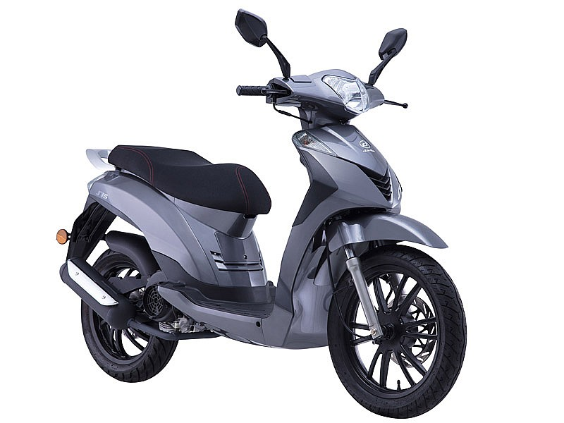 daelim s16 125 2018 su primer scooter de rueda alta motos daelim scooter. Black Bedroom Furniture Sets. Home Design Ideas
