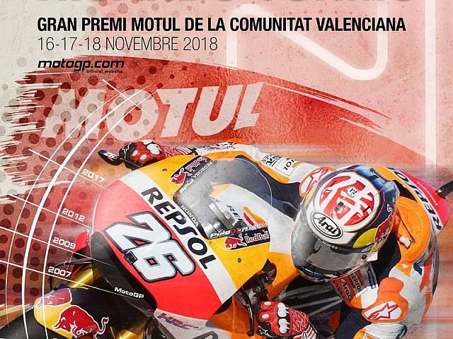 e12c0933048 MotoGP Valencia 2018: Dani Pedrosa homenajeado en el cartel del GP ...